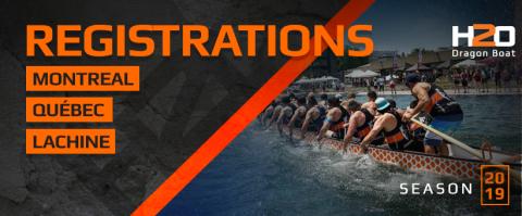 Registration H2o dragon boat teams